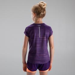 Camiseta de atletismo run dry+ niña violeta