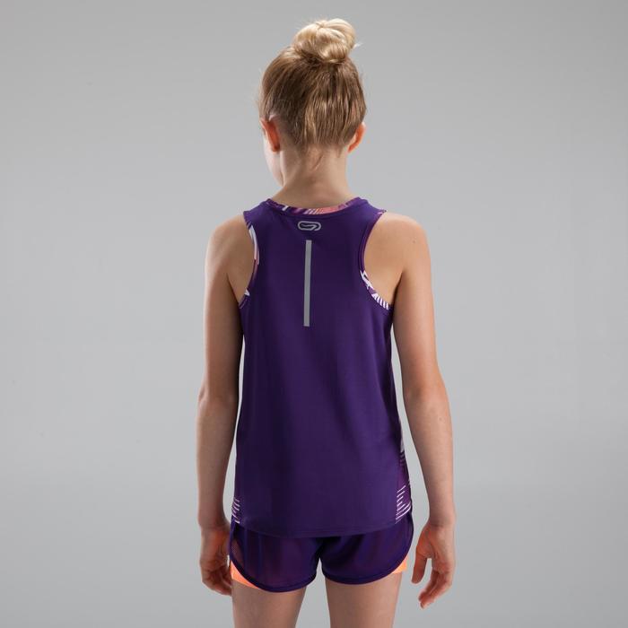 Meisjestop voor atletiek Run dry+ paars