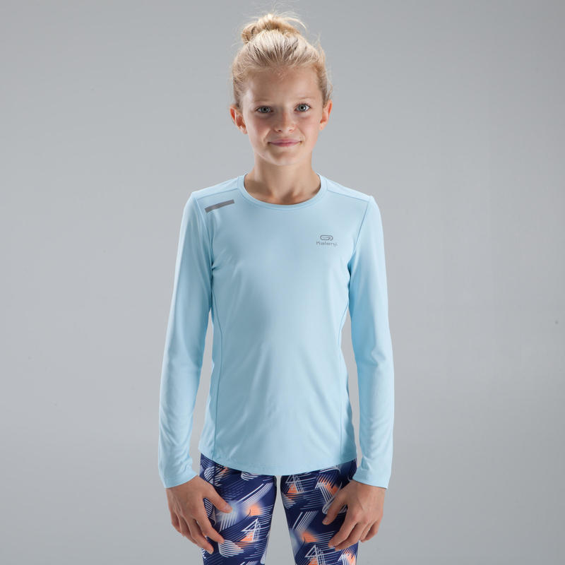 Sun Protect long-sleeved athletics T-shirt - Light Blue