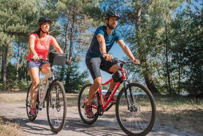 Riverside 500 Hybrid Bike - Red