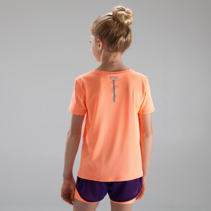 兒童田徑T恤Run Dry珊瑚紅