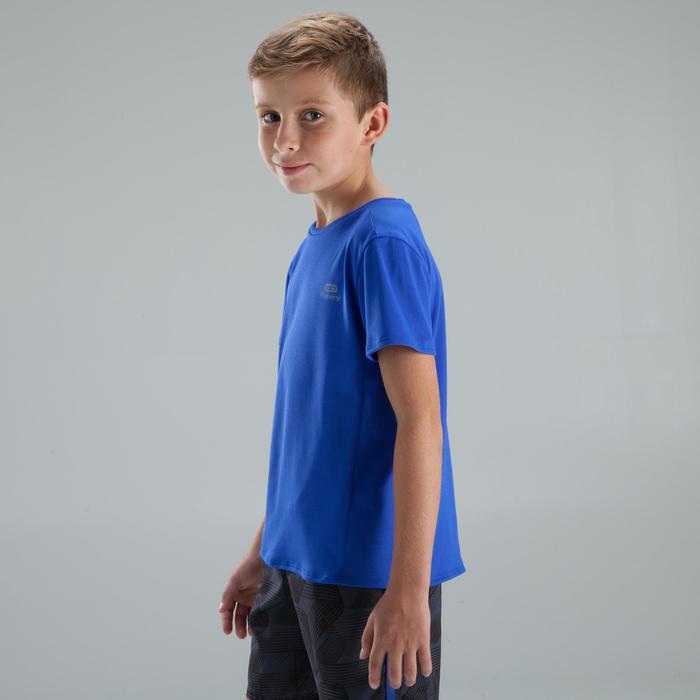 兒童田徑T恤Run Dry靛藍色