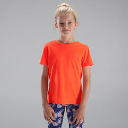 T-shirt Athlétisme Course au sec enfant rouge fluo