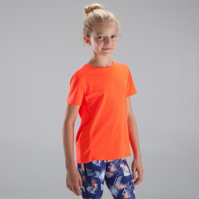 Laufshirt kurzarm Run Dry Kinder neonrot