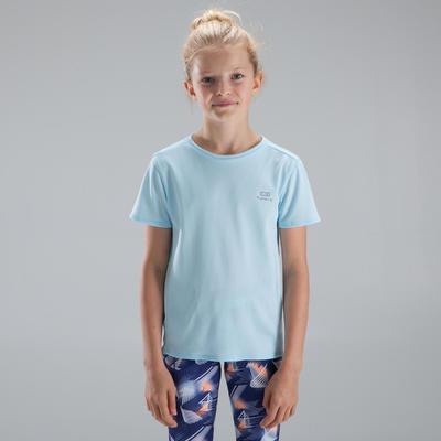 Дитяча футболка Run Dry для легкої атлетики - Світло-блакитна