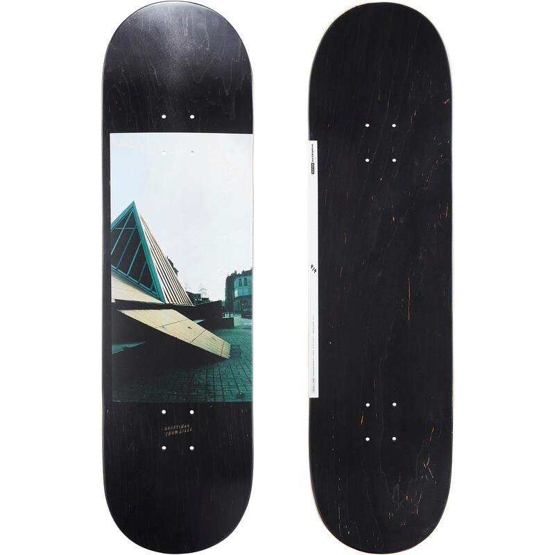 """Skateboardová deska z javoru DK120 Greetings 8,75"""" černá"""