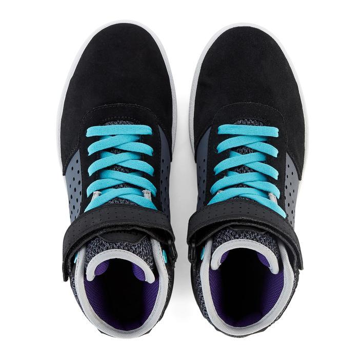Hoge skateschoenen voor kinderen CRUSH 520 zwart/paars