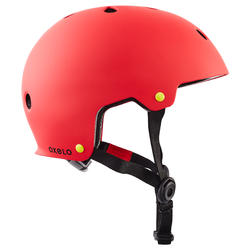 Casque roller skateboard trottinette PLAY 7 rouge