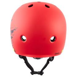 Casque roller skateboard trottinette PLAY 7 rouge