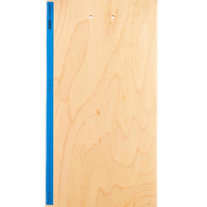 """Skateboard-Deck 100 Größe 8,25"""" holzfarben/blau"""