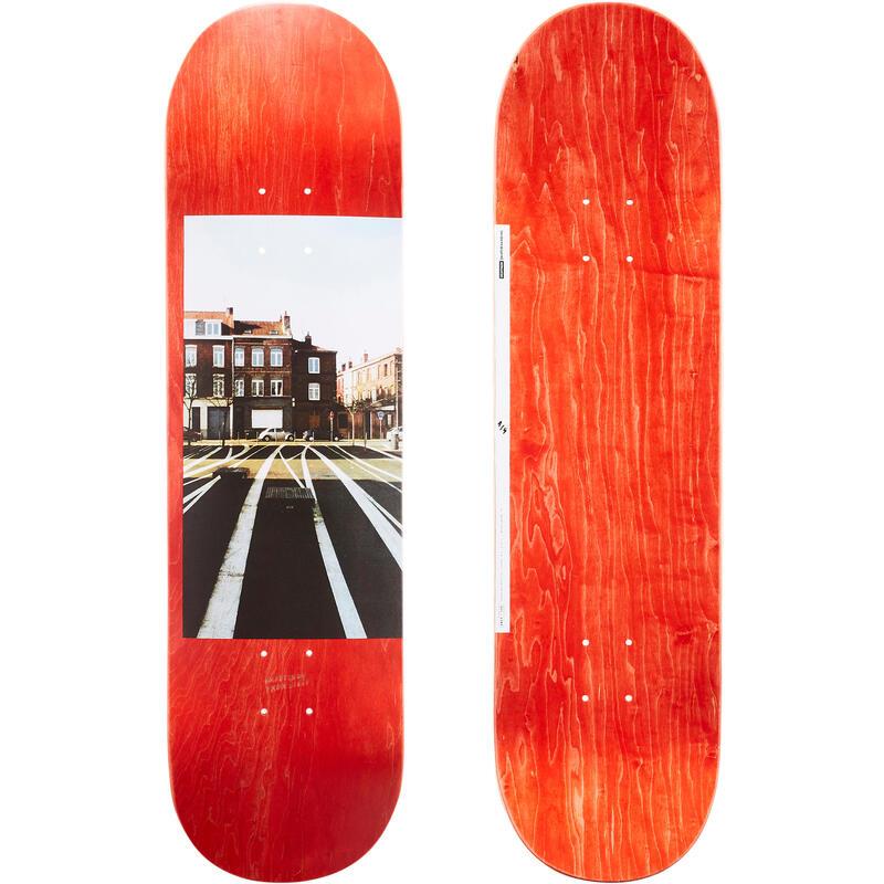 """Skateboardová deska z javoru DK120 Greetings 8,5"""" červená"""