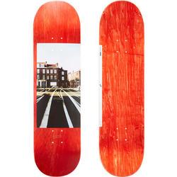 """Skateboard-Deck 120 Größe 8,5"""" holzfarben/rot"""