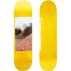 """Tabla Skate OXELO DECK 120 talla 8,75"""" Adulto Amarillo"""