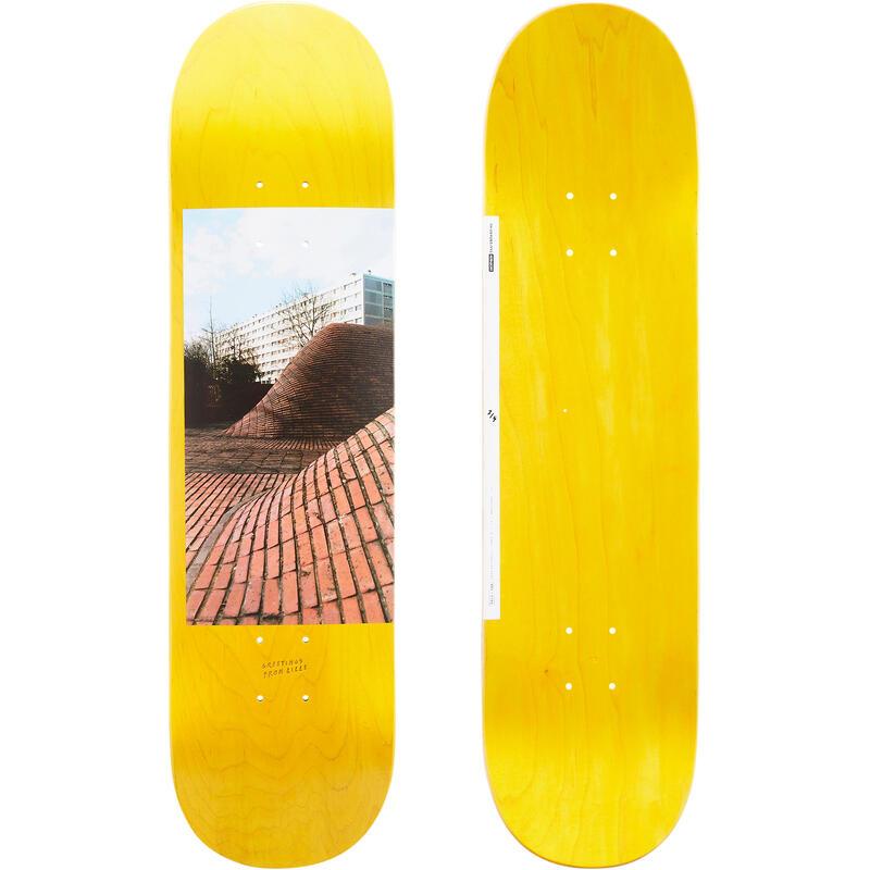 "Maple Skateboard Deck Greetings DK120 8"" - Yellow"