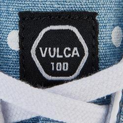 Lage skateschoenen volwassenen Vulca 100 canvas L denim