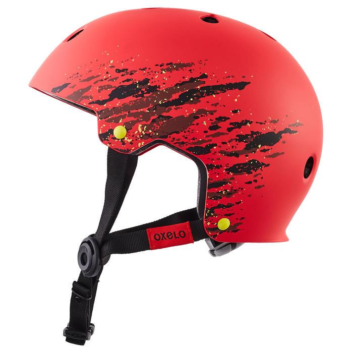 Skaterhelm für Inliner Skateboard Scooter Play 7 Full rot