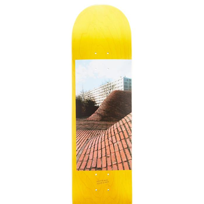 """Planche de skate DECK 120 taille 8"""" couleur jaune."""
