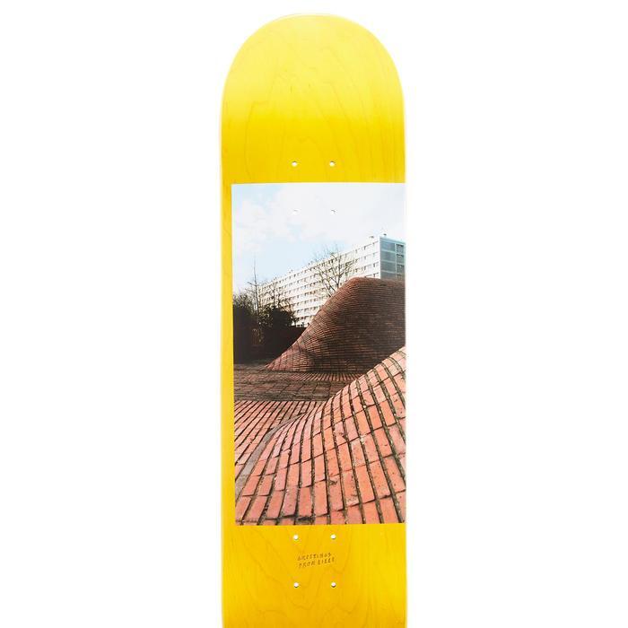 """Skateboard deck 120 maat 8"""" geel"""