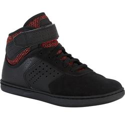 Skateschuhe Crush 520 High Skateboard Kinder schwarz/rot