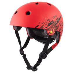 Helm voor skeeleren skateboarden steppen Play 7 full rood