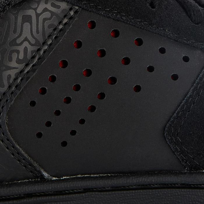Chaussures montantes de skateboard pour enfant CRUSH 520 noire et rouge