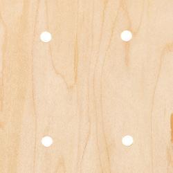 """Skateboard deck 100 maat 8.25"""" houtkleur en blauw"""