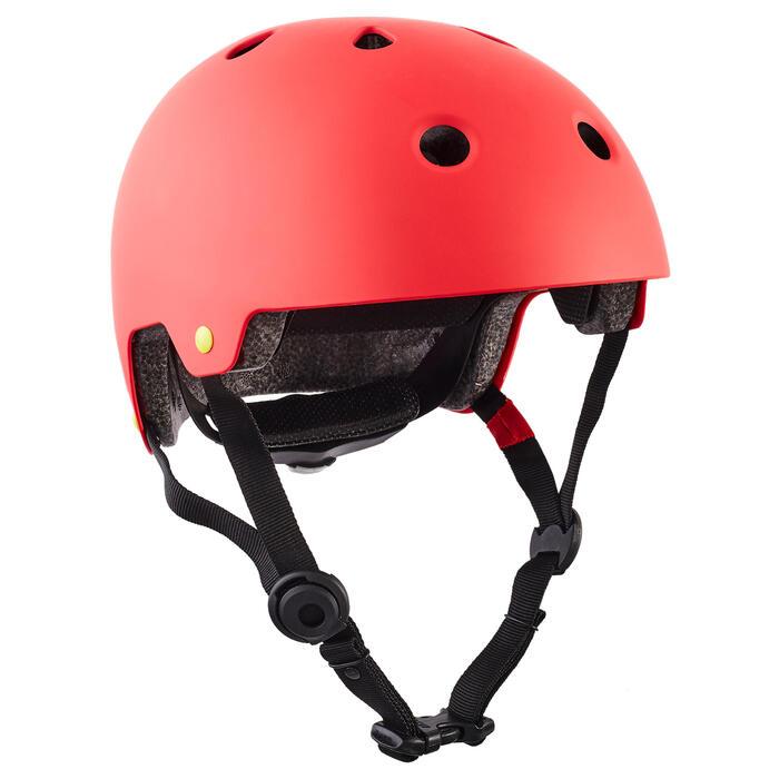 Helm voor skeeleren skateboarden steppen Play 7 rood