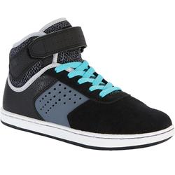 Zapatillas caña alta skateboard junior CRUSH 520 negro y violeta