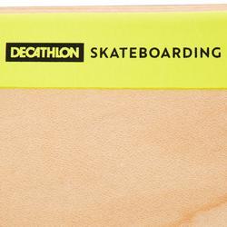 """Skateboard deck 100 maat 8"""" houtkleur en geel"""