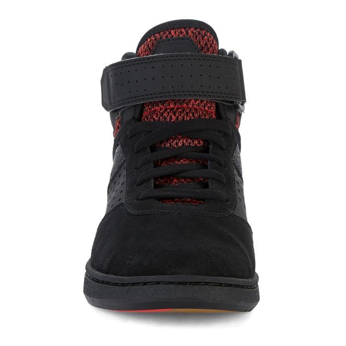 Hoge skateschoenen kinderen Crush 520 zwart en rood