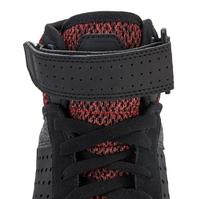 Zapatillas caña alta skateboard júnior CRUSH 520 negro y rojo
