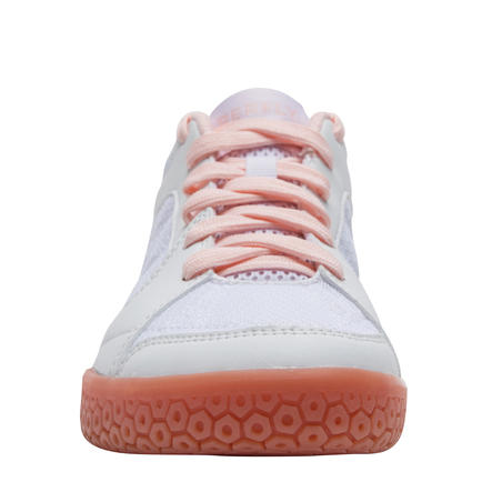 WOMEN BADMINTON SHOES BS 190 WHITE PINK