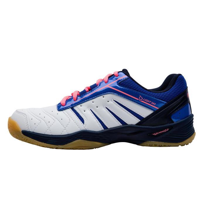 Chaussures De Badminton pour Femme BS560 Lite - Blanc/Bleu