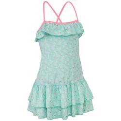 Girls' One-Piece Dress Swimsuit HANAE PALMY FROZEN