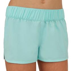 Kina Girls' Short Boardshorts with Elasticated Waistband - Sky Blue