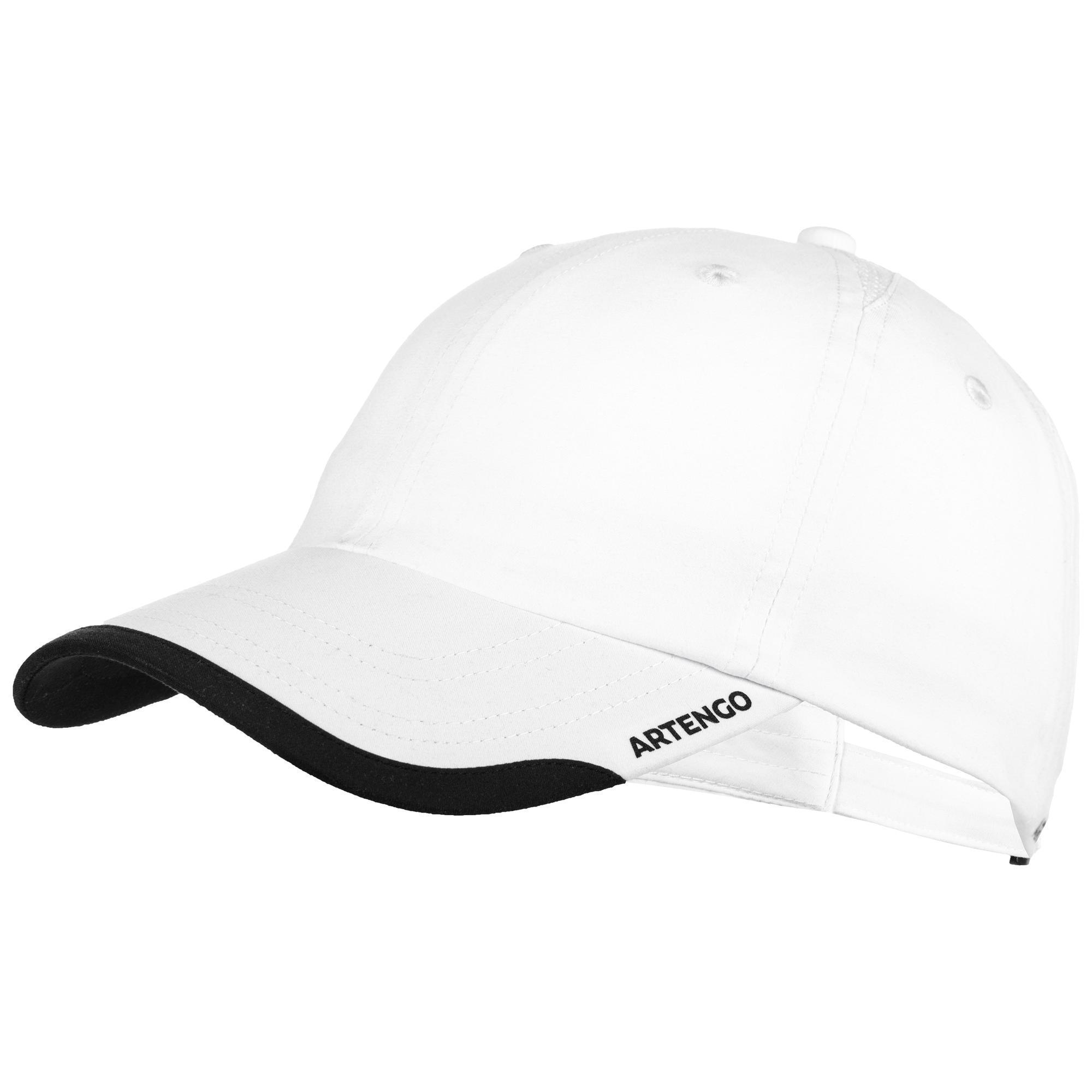 Tennis-Kappe Schirmmütze flexibel Racketsport TC 100 weiß | Accessoires > Caps | Artengo