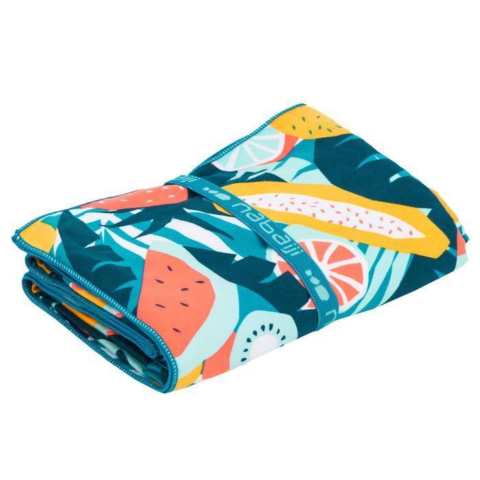 Compacte microvezel handdoek met print maat XL 110 x 175 cm
