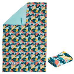 Toalha de natação de microfibras estampado tamanho XL 110 x 175 cm