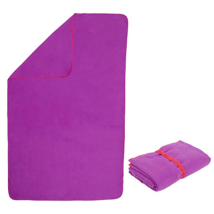 Toalla microfibra violeta XL