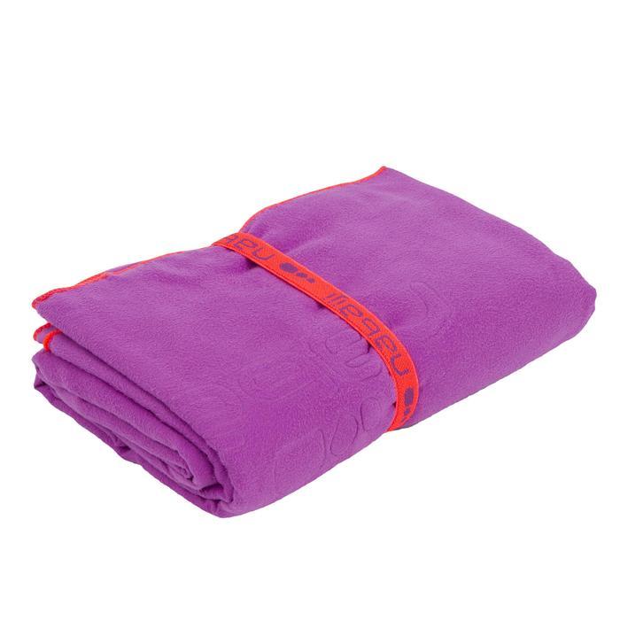 Toalla Baño Piscina Natación Nabaiji Violeta Microfibra Talla XL Aquagym
