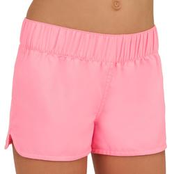 Kina Girls' Short Boardshorts with Elasticated Waistband - Pink