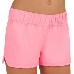 女童款衝浪短褲(附彈性腰帶)Kina-粉紅色