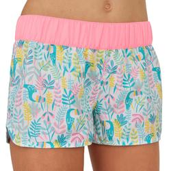 Girl's Short Boardshorts with Elasticated Waistband KINA TUAMO MARTINICA