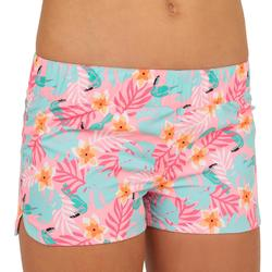 KINA CUTY Girl's Short Boardshorts with Elasticated Waistband PINK