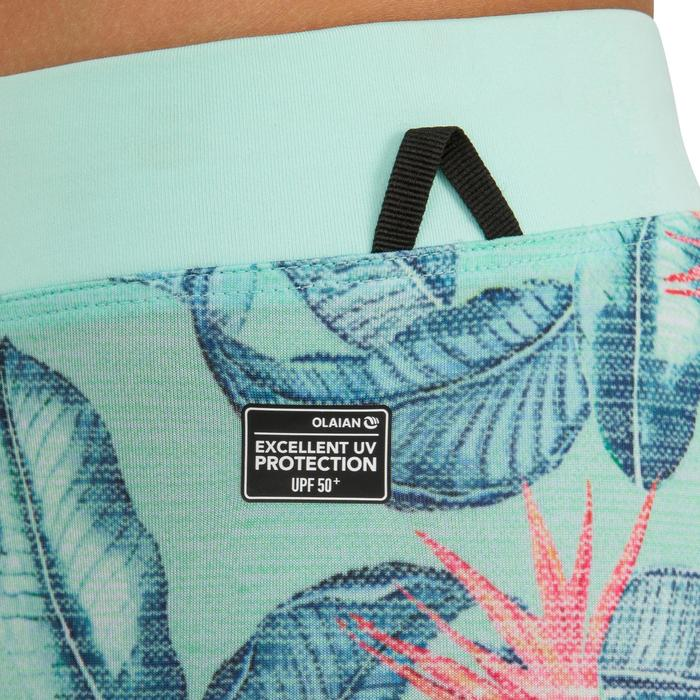 Leggings anti-UV de surf 500 júnior verde/menta