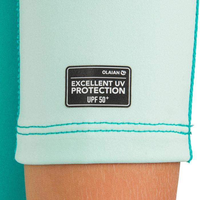 Thermische en uv-werende rashguard met korte mouwen voor kinderen mint