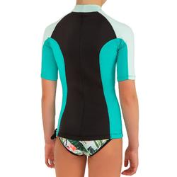 Thermo-Shirt mit UV-Schutz kurzarm Neopren Kinder mintgrün