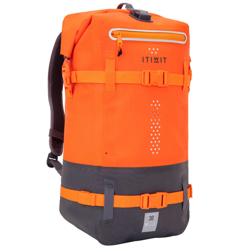 WATERPROOF BAGS Bags - Waterproof Backpack 30L Orange ITIWIT - Bags