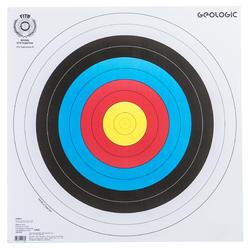 Schietschijf voor boogschieten, 60 x 60 cm