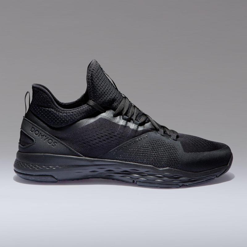 b39d30d5d19 Pánská obuv 920 na fitnes černá Domyos